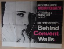 Behind Convent Walls, Original UK Quad, Sexploitation Art! CONTROVERSIAL, '78